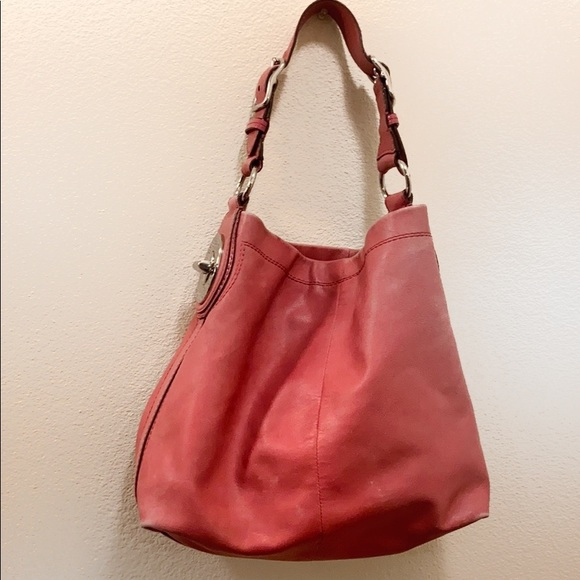 Coach Handbags - Coach Peyton Peony Leather Shoulder Bag